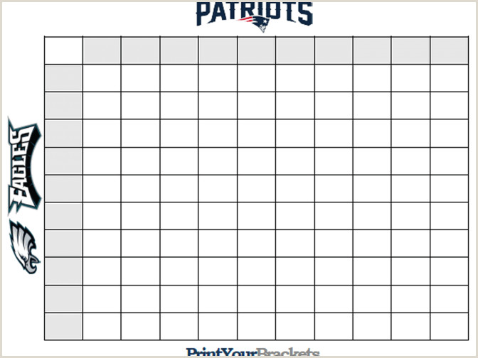 Super Bowl Squares Template How To Play line And More