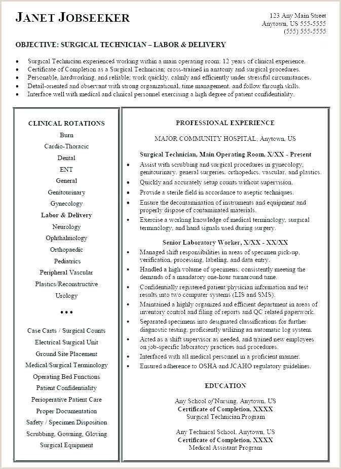 Surgical Technologist Resumes Ultrasound Tech Resume