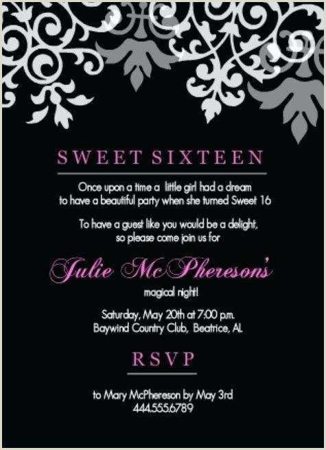 Sweet 16 Invites Wording Sweet Sixteen Invitations Ideas Invitation New Best