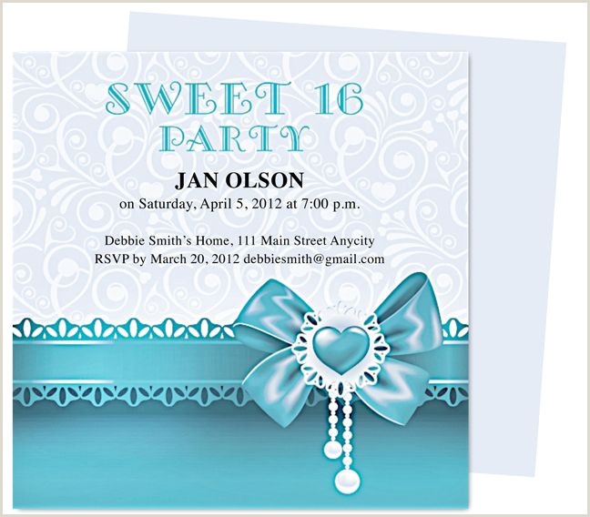 Sweet Sixteen Invite Templates Pin On Birthday Invitation Templates for Any Party