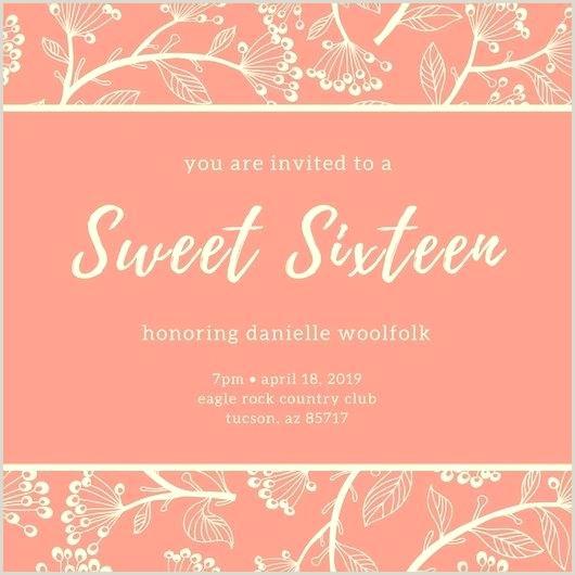 Sweet Sixteen Invite Templates Sweet 16 Party Invitation Template – Tucsontheaterfo