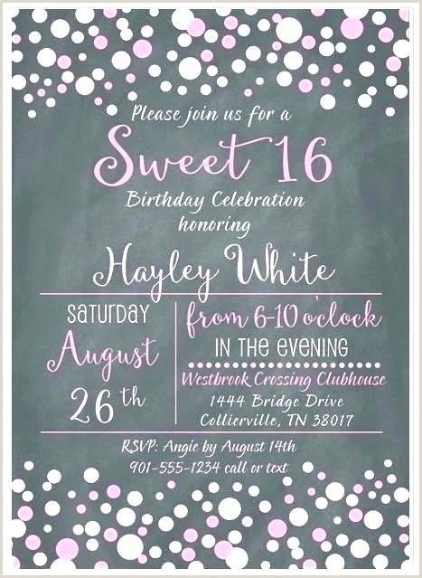 Sweet Party Invitation Templates 16 Birthday Free 16th