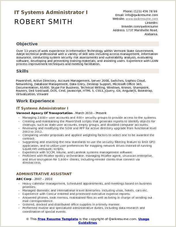 System Administrator Resume 11 12 Active Directory Resume Examples
