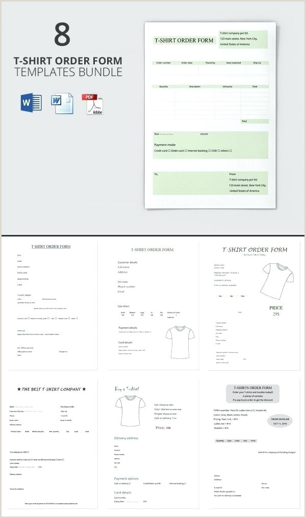 Bakery Order Forms Template Luxury Free T Shirt Form Word
