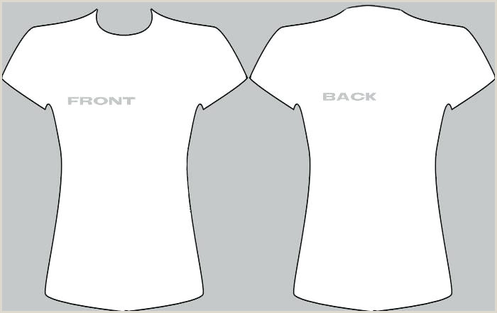 Free Clean White T Shirt Template Men And Women Womens