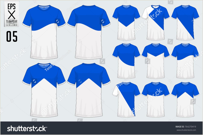 Tshirt Sport Design Soccer Jersey Football Stock Vector