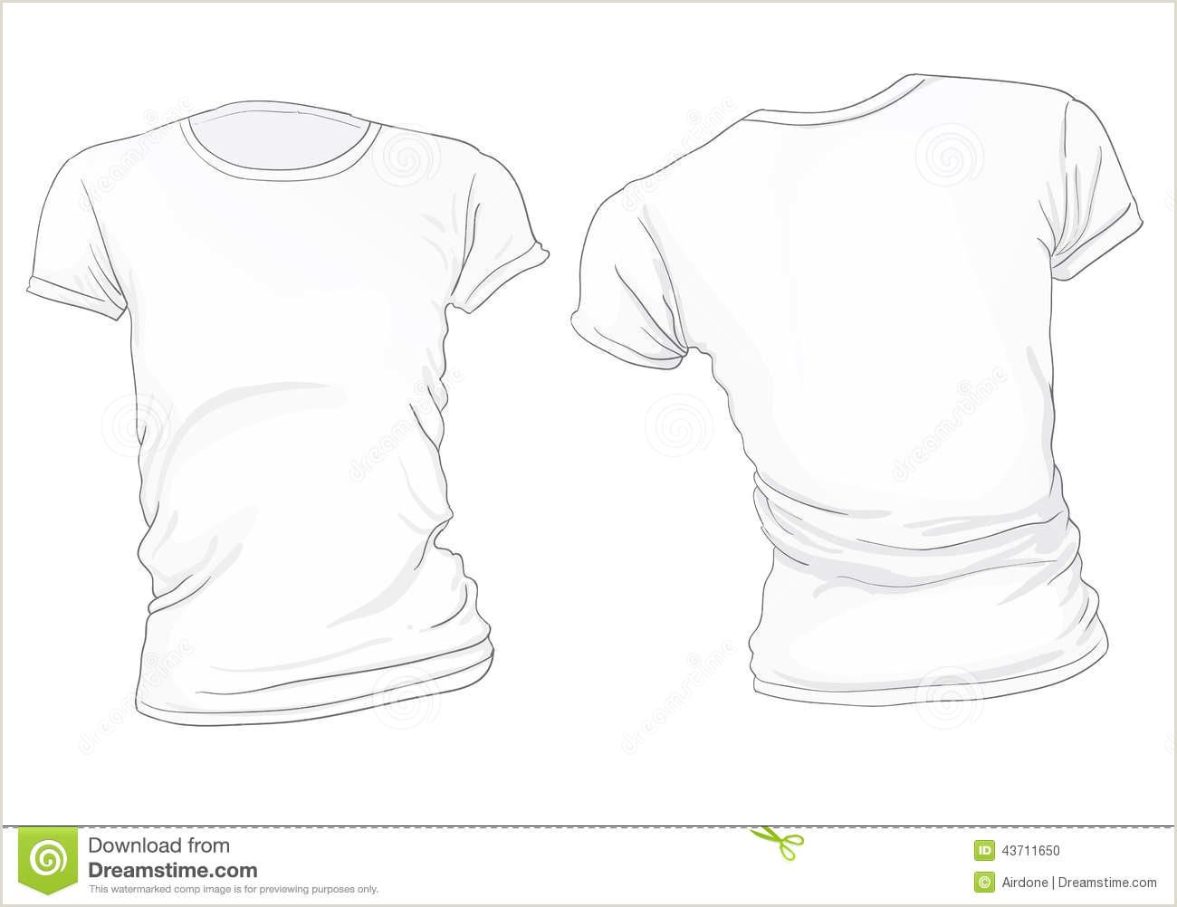 Women s White T Shirt Template Stock Vector Illustration