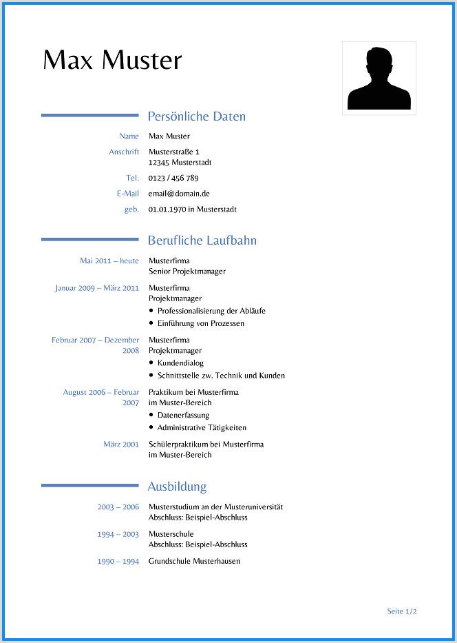 Tabellarischer Lebenslauf Muster Word Dokument 13 Tabellarischer Lebenslauf Vorlage