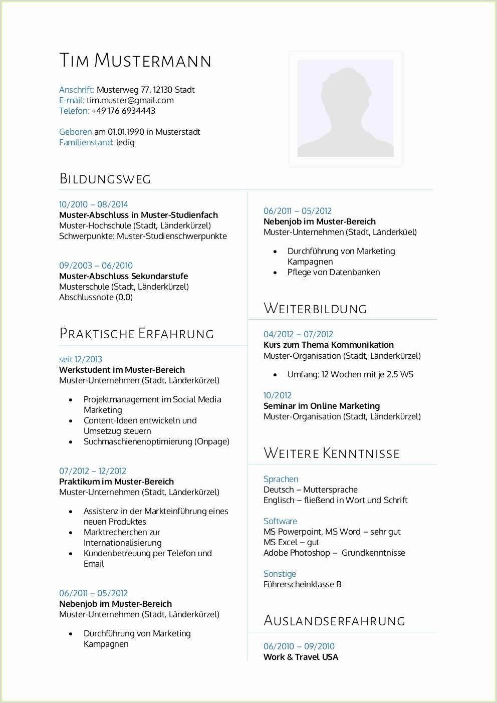 Tabellarischer Lebenslauf Muster Word Dokument Tabellarischer Lebenslauf Lehrer Genial Lebenslauf Muster Für