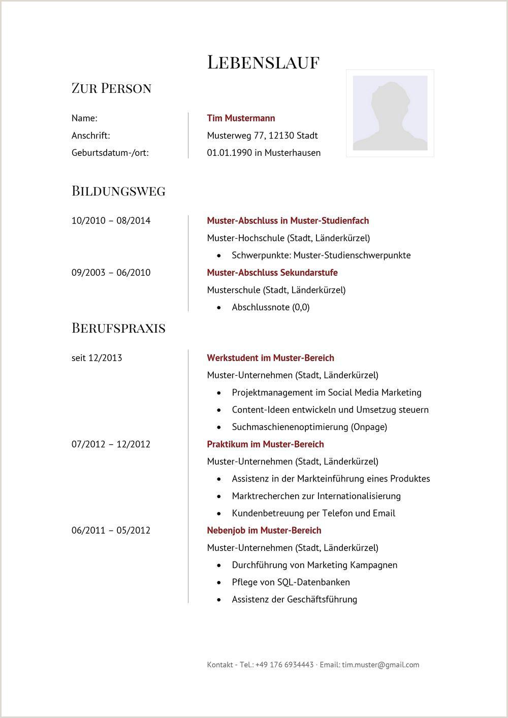 Tabellarischer Lebenslauf Muster Word Download Tabellarischer Lebenslauf Muster & Vorlagen Lebenslaufdesigns