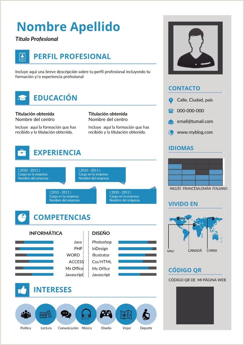 Plantilla Cv Curriculum Vitae Infogrfico Word Docx