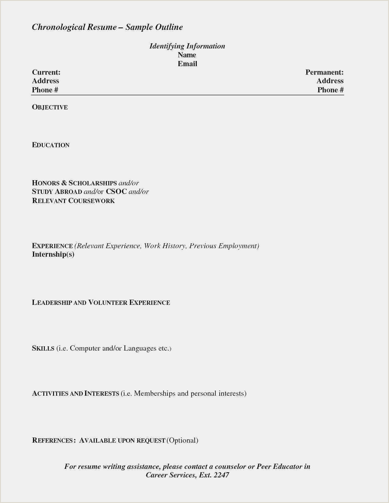 Teacher Resume format Doc Free Download 50 Resume Templates Doc format