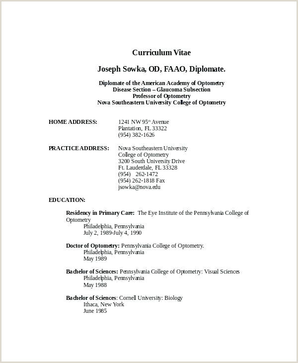 Teacher Resume format In Word 25 Examples Word Doc Resume Template