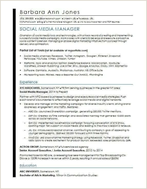 Modele Cv Pdf Beau English Cv Model Pdf social Media Resume