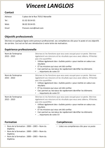 Telecharger Exemple De Cv En Pdf Exemple De Cv Open Office Gratuit   Télécharger