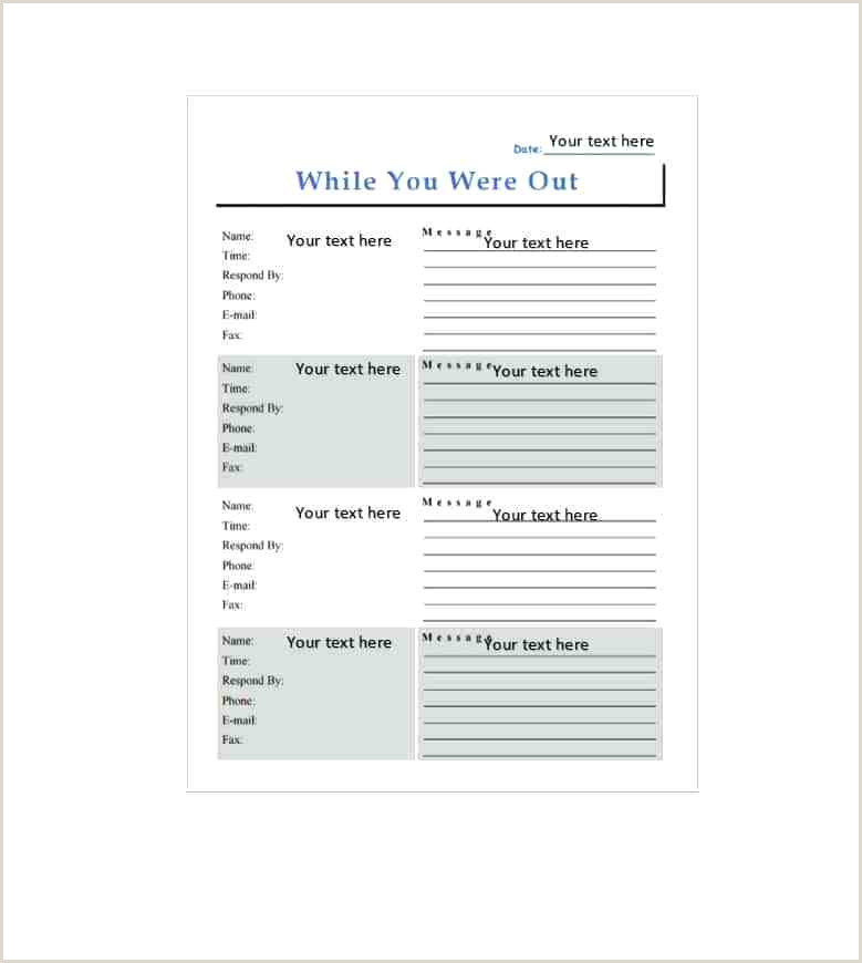 Telephone Message Pad Template Word Printable Phone Message Template Phone Message Templates Doc