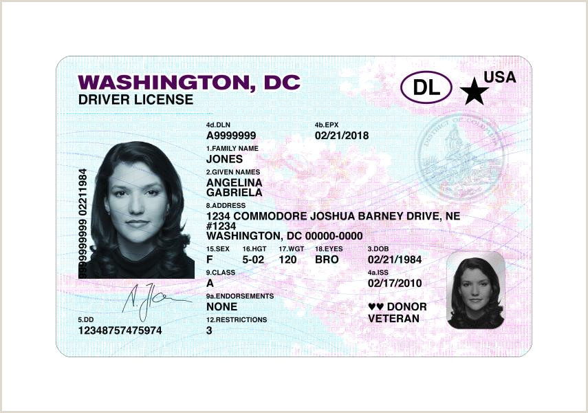 DC DMV REAL ID Driver License