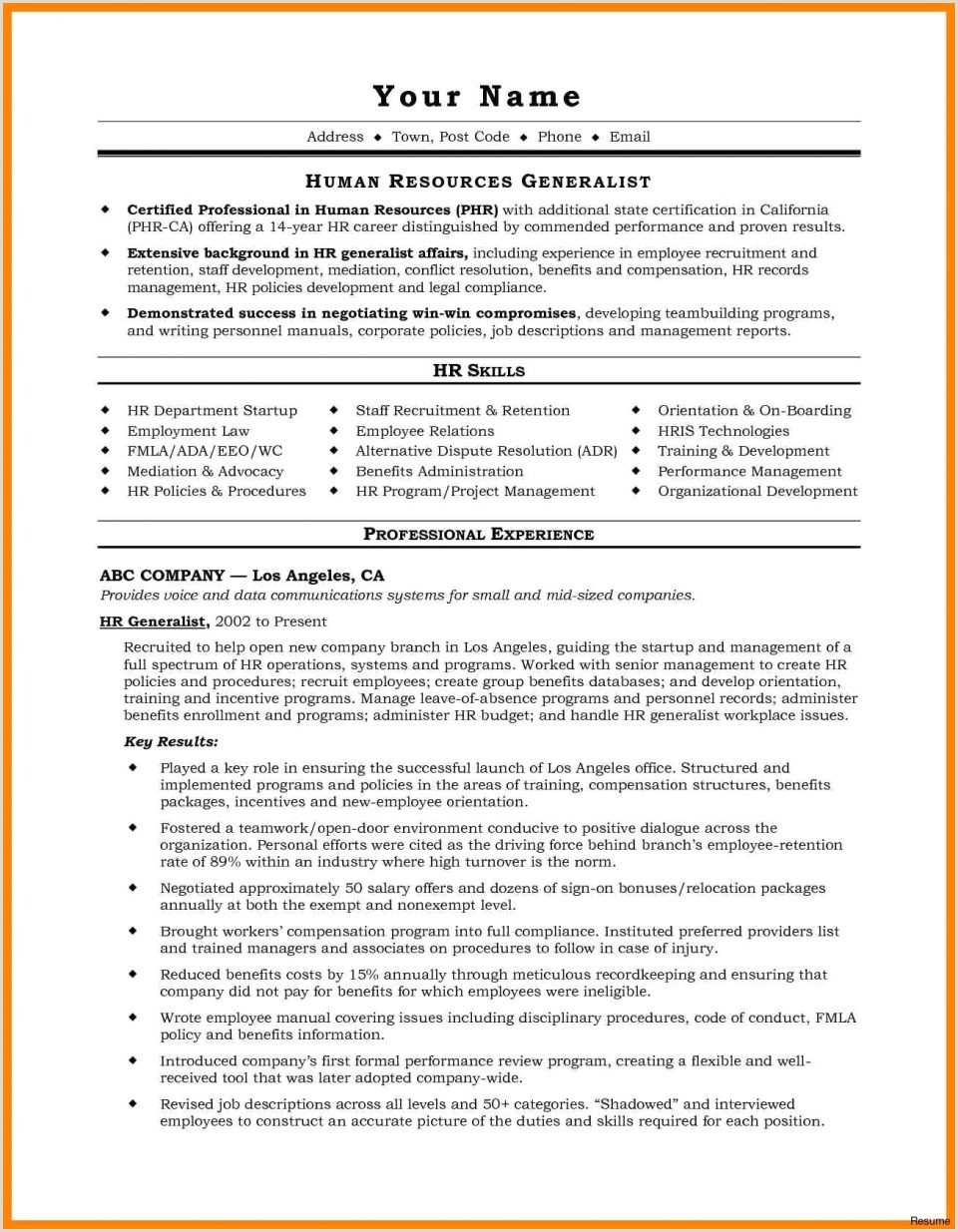 Test Manager Resume Promotion Warrant Template Usmc New Maintenance Resume