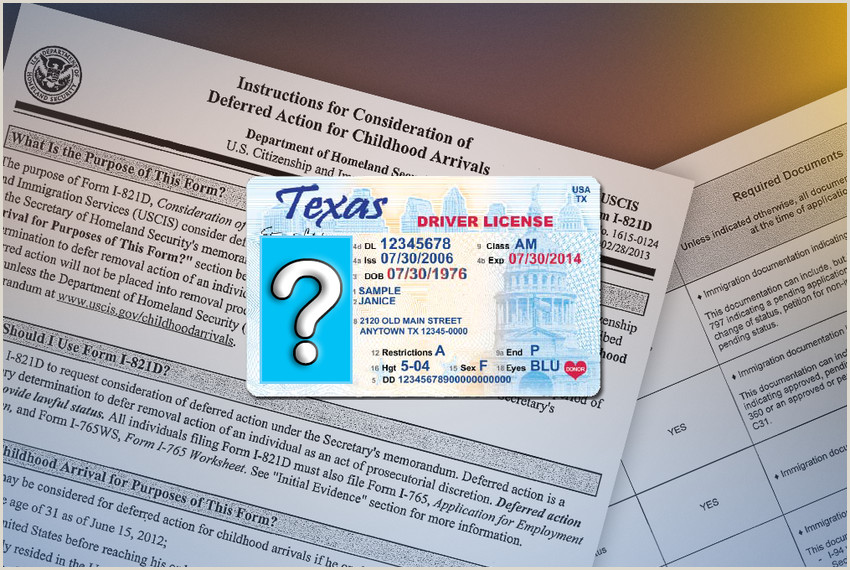 Texas Driver License Template Driver S Permit Proposal for Undocumented Immigrants Stalls