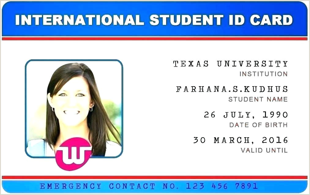 Texas Drivers License Template Download High School Id Card Template