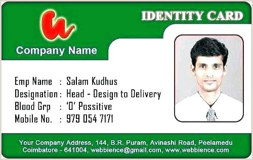 identification card template
