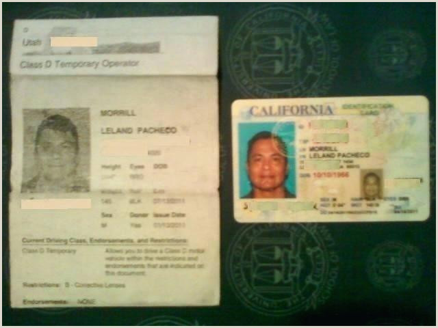 Work Id Template Temporary Paper Drivers License