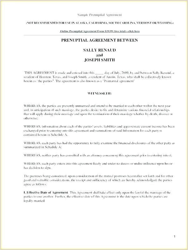 Texas Prenuptial Agreement Free Download Prenuptial Agreement Sample form – Gotraveller
