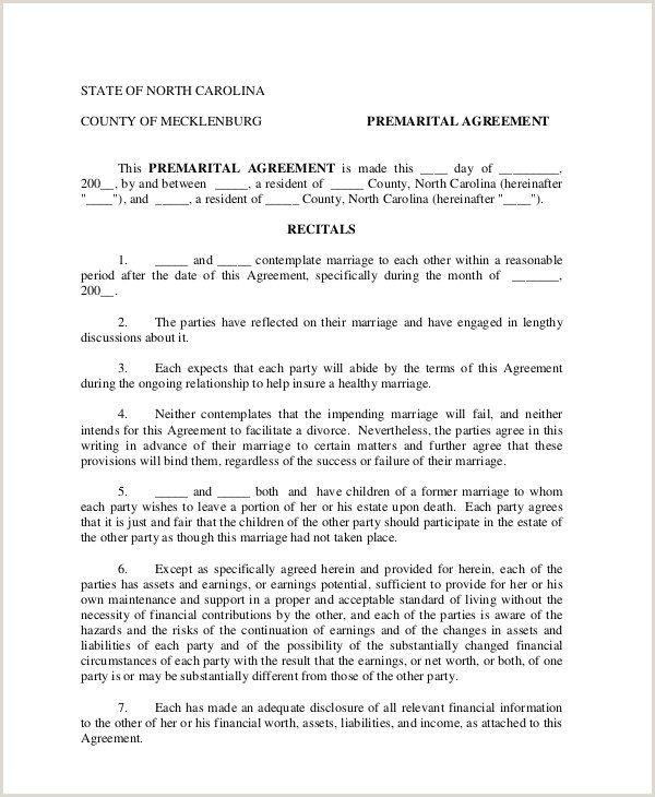 Texas Prenuptial Agreement Free Download Sample Prenuptial Agreement 6 Prenuptial Agreement