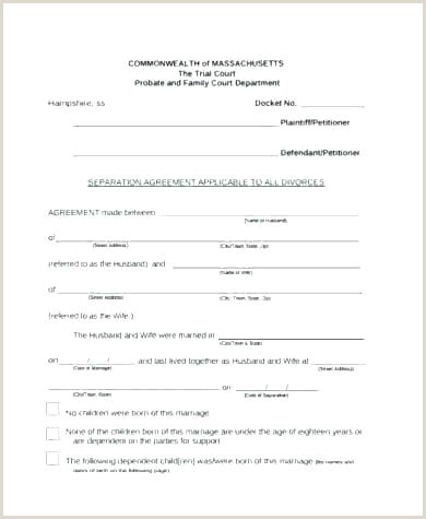 separation agreement texas template