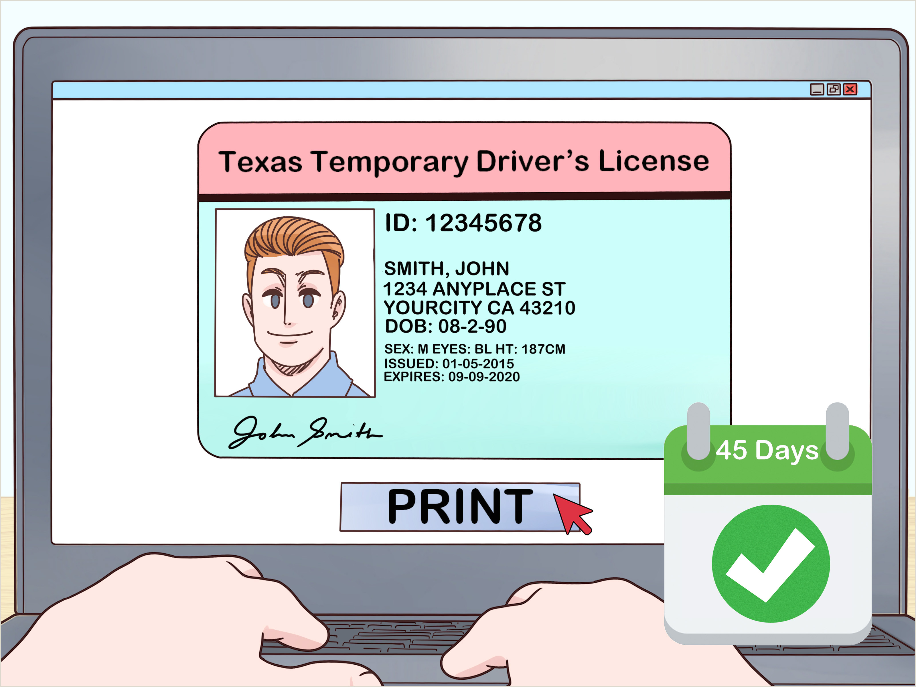 Texas Temp Id Template How to Replace A Texas Driver S License 10 Steps with