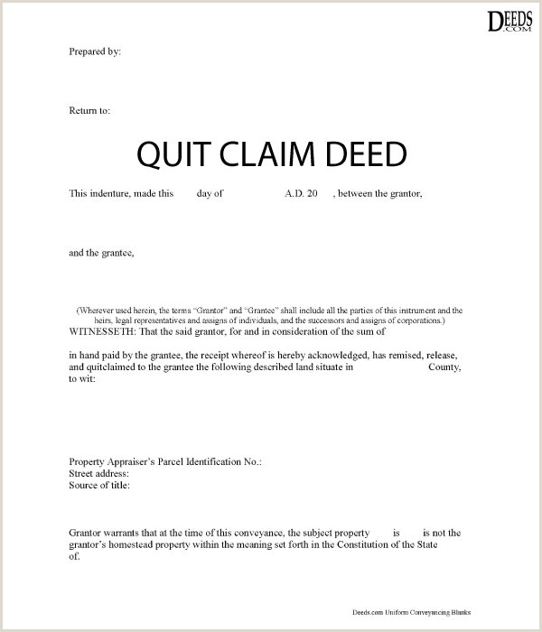 Texas Warranty Deed form Free Download Quitclaim Deed