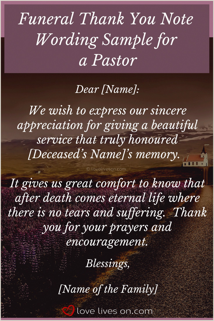 Thank You after Funeral Wording Funeral Thank You Notes