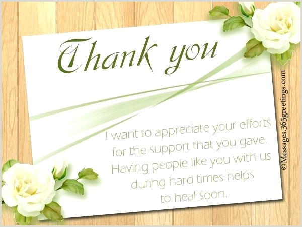 Sympathy Thank You Notes Wordings And Messages Message For