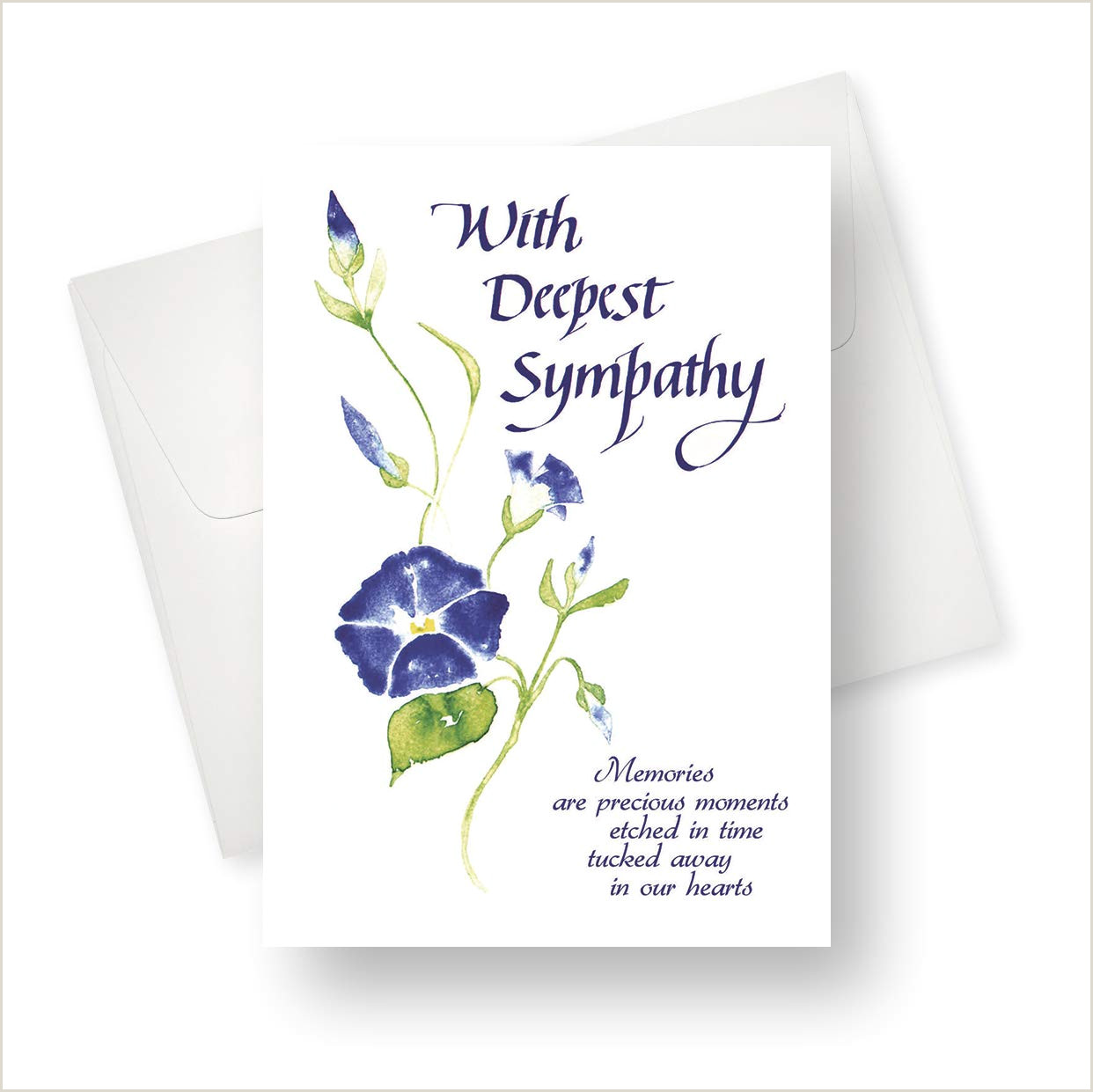 Amazon Northern Cards Sympathy Card Flower Wisp
