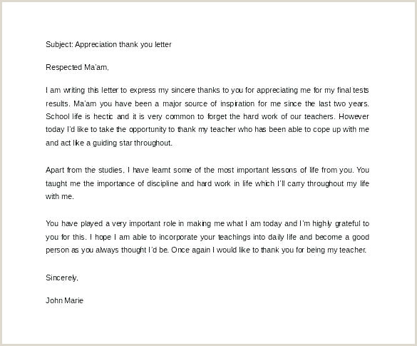Sample Thank You Letter For Donation Free Appreciation