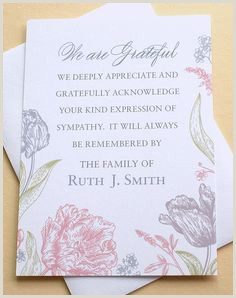 Thank You Note for Newspaper after Funeral 16 Best Funeral Thank You Card Images