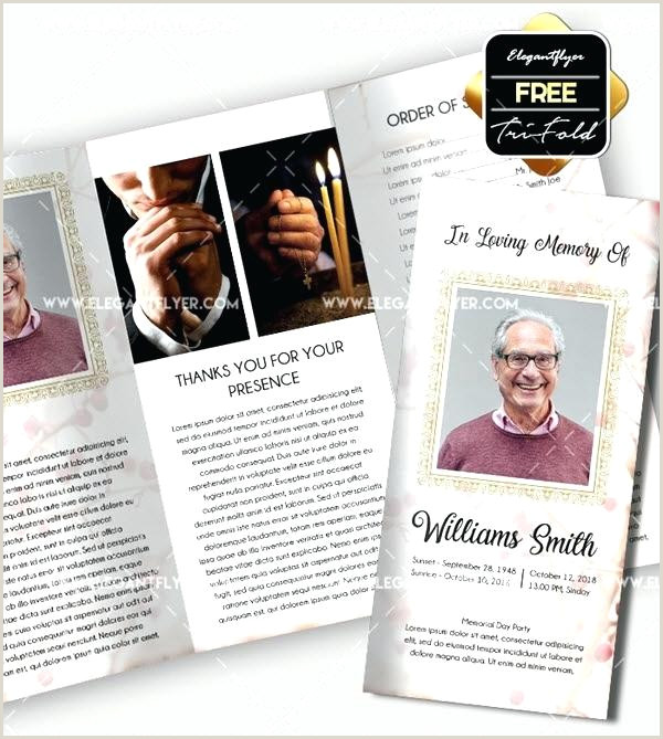 Death Program Templates Notice And Obituary Writing