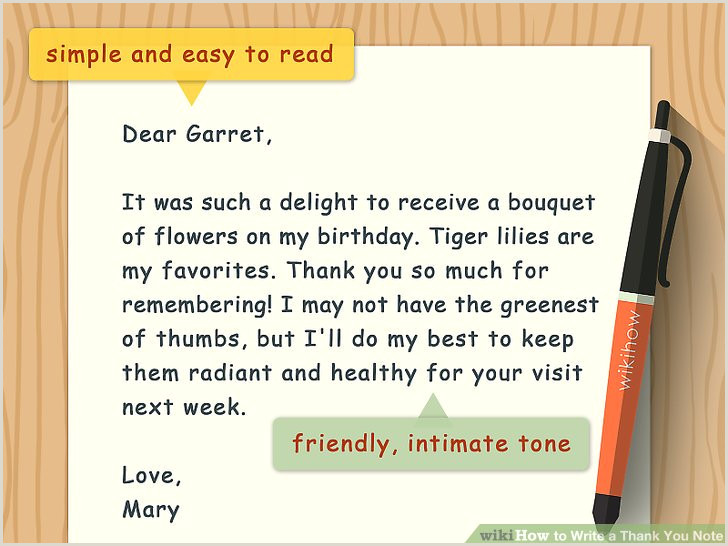 Thank You Note for Newspaper after Funeral How to Write A Thank You Note 9 Steps with Wikihow