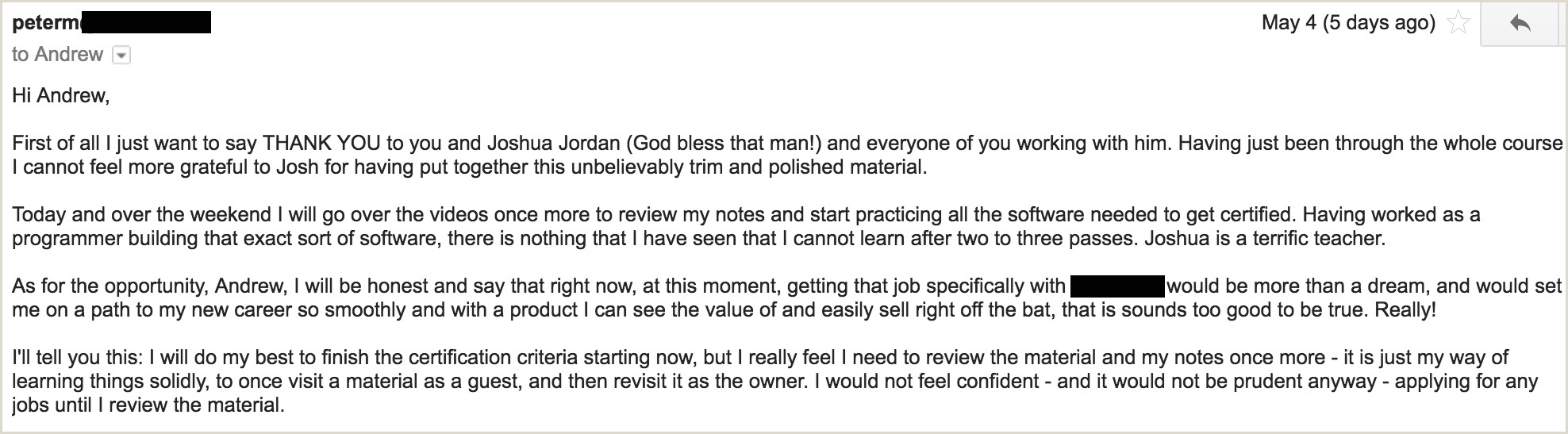 Prehired Reviews
