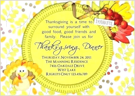 Thanksgiving Potluck Invitation Wording Thanksgiving Dinner Invitation Template