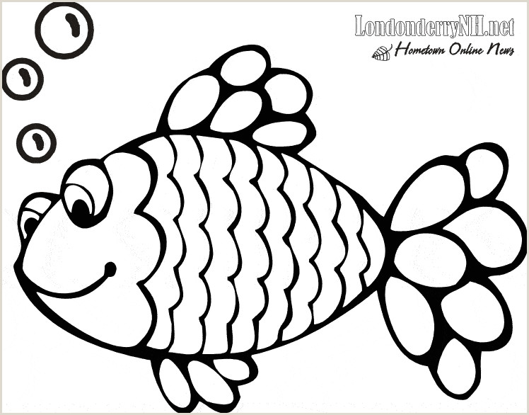 The Rainbow Fish Template Cute Fish Coloring Pages