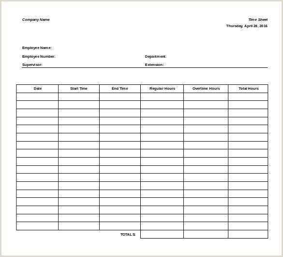 easy timesheet template