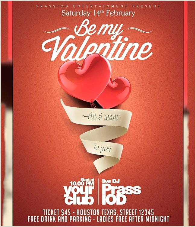 Valentines Day Party Flyer Template 2 Files Valentine Psd
