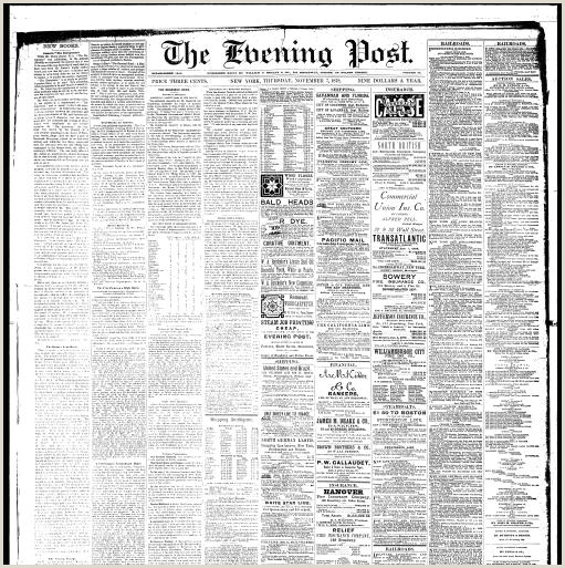 Tongue and Quill Memorandum the evening Post New York [n Y 1832 1920 November 07
