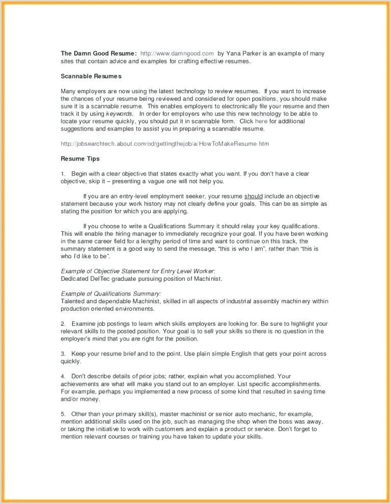Tradesman Resume Template Federal Resume Template Government Job Objective for