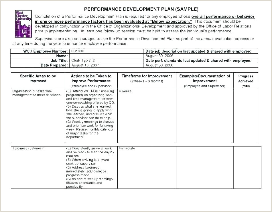 Training and Evaluation Outline Training Template Sample