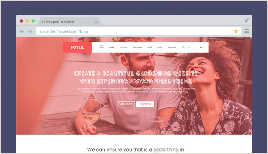 50 Free PSD Website Templates For Corporate Education LMS