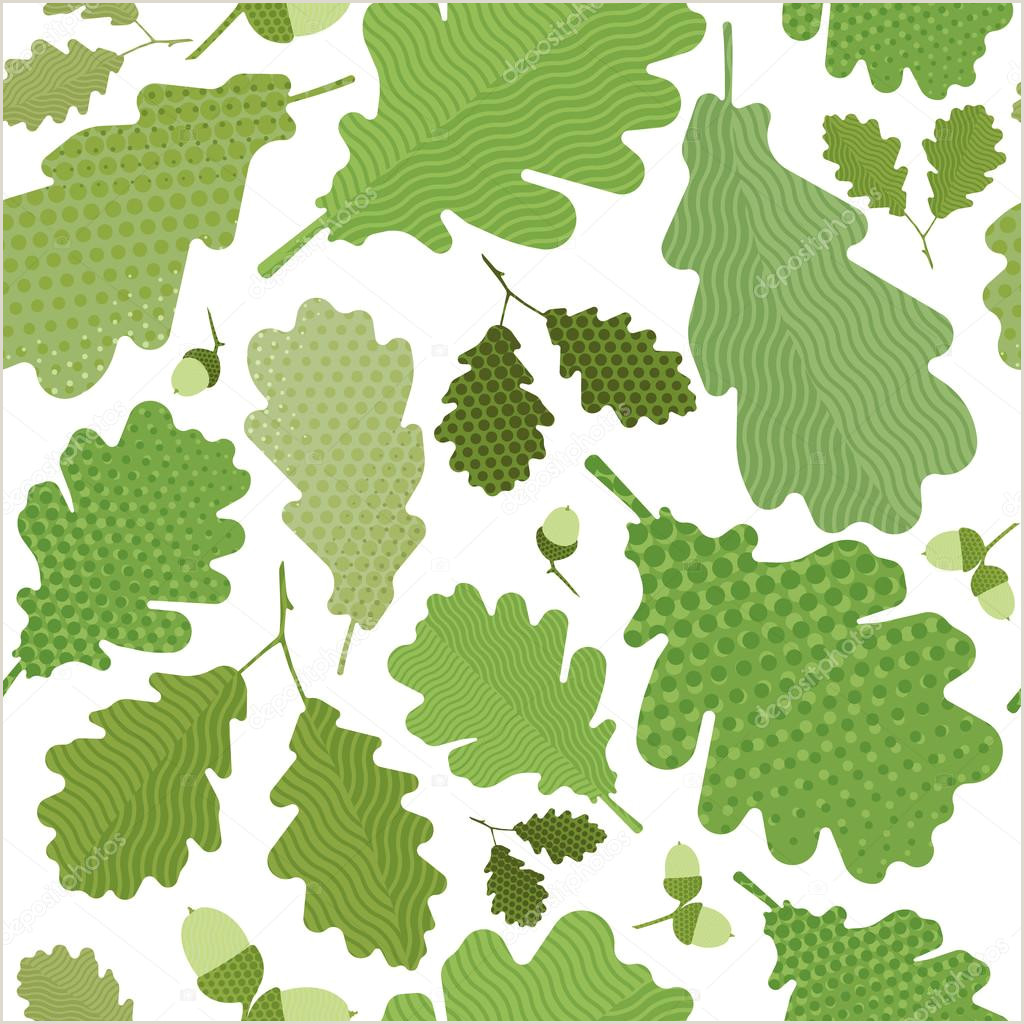 Seamless green leaves pattern green foliage without