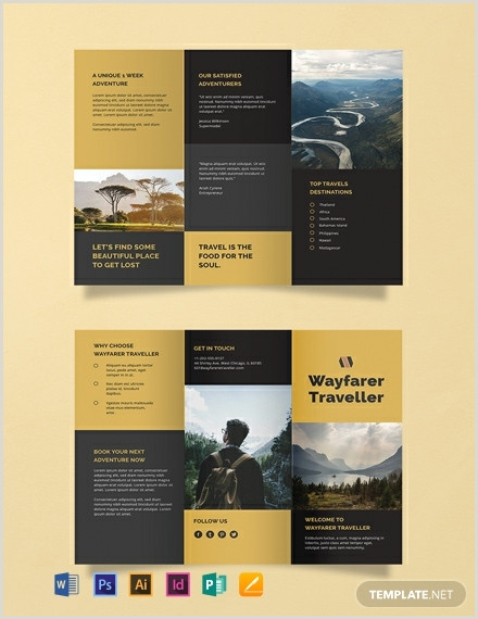 Tri Fold Brochure Template Publisher 1754 Free Flyer Templates Word Psd Indesign