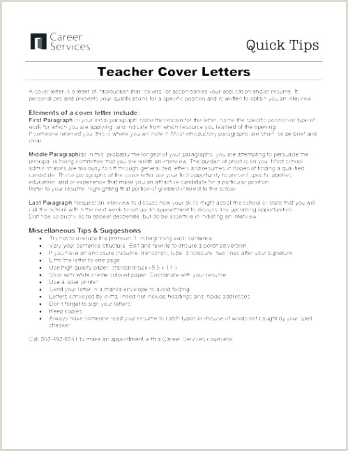Cover Letter for Teaching Job with No Experience Dans Sample